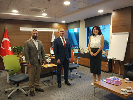 Istanbul Science Industry and Technology Provincial Director Ümit ÜNAL came to our visit.